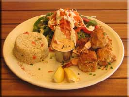 Crab-stuffed shrimp